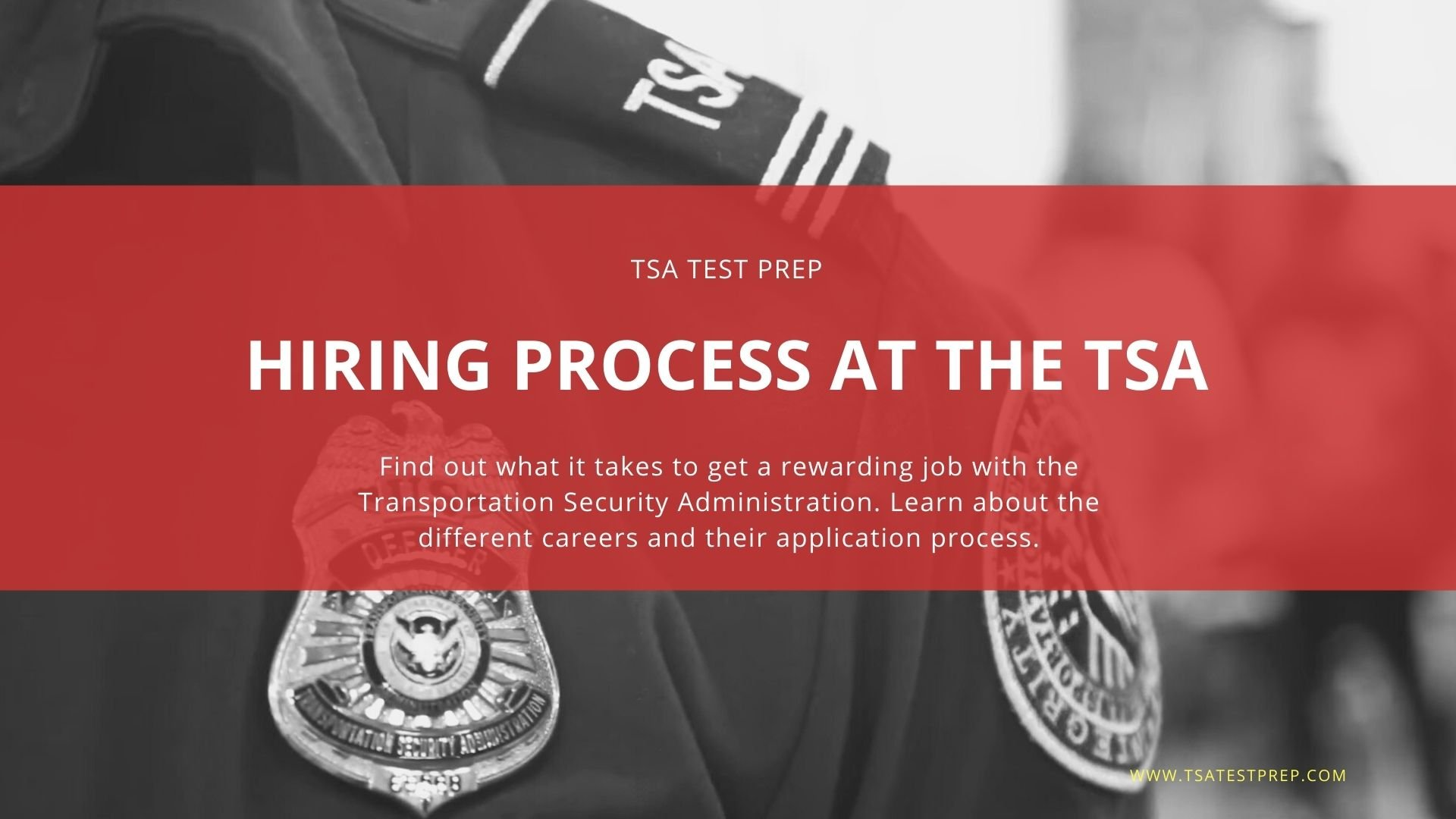 Hiring Process at the TSA, TSO, FAM and Canine Handlers