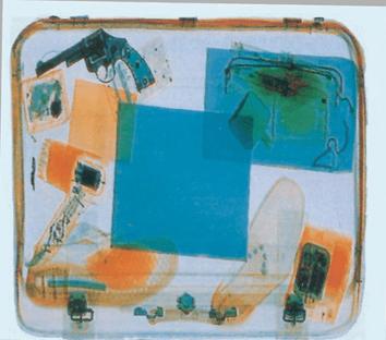 TSA CBT X-Ray Sample Red Color represents less dense items