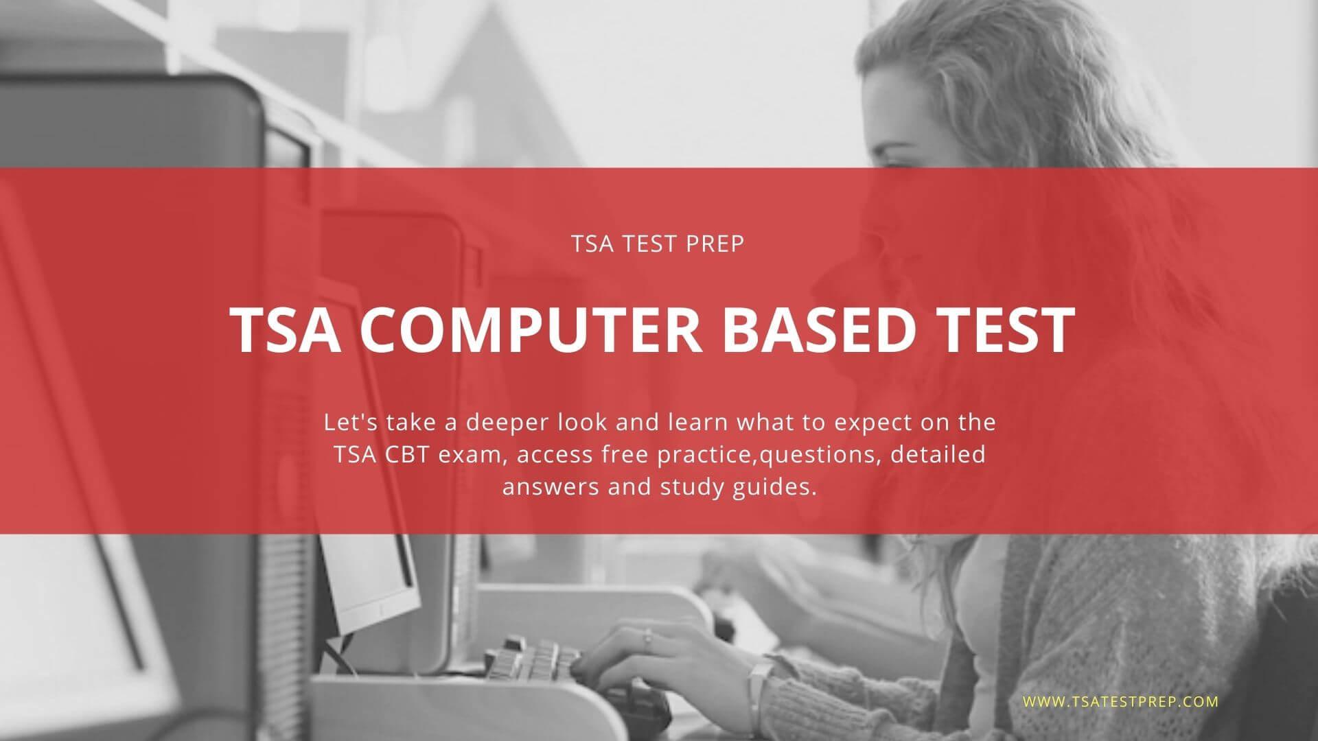 TSA CBT Practice Test & TSA Test Prep Free